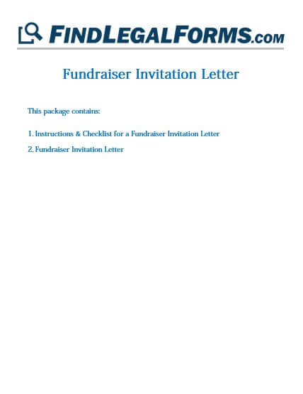 letter fundraiser invitation