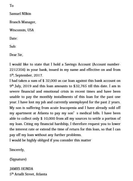medical hardship letter