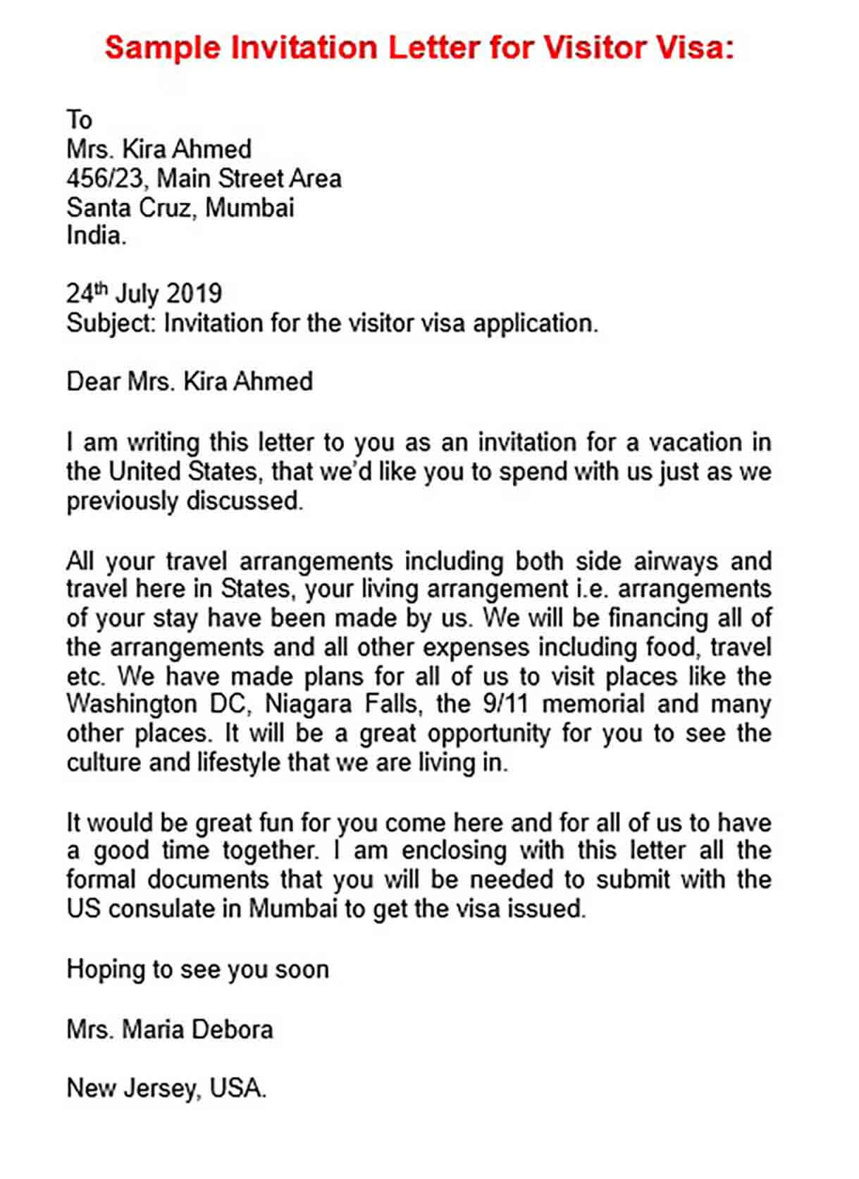 Inviting Letter For Us Visa from moussyusa.com