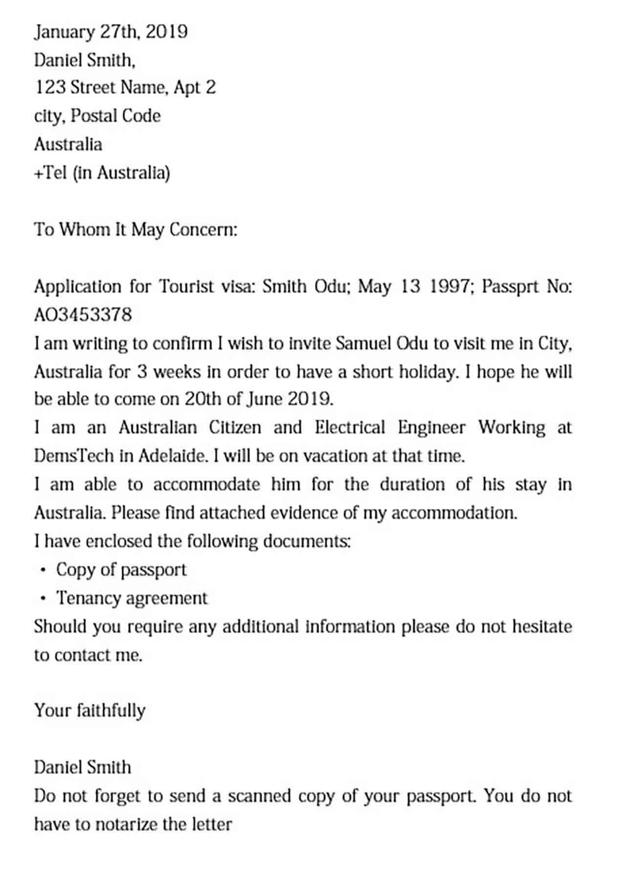 sample invitation letter to