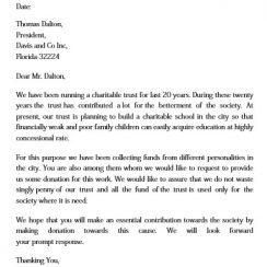 work donation request letter