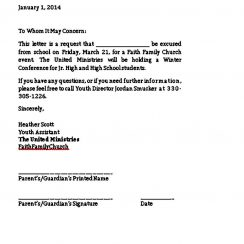 Formal Excuse Letter Format