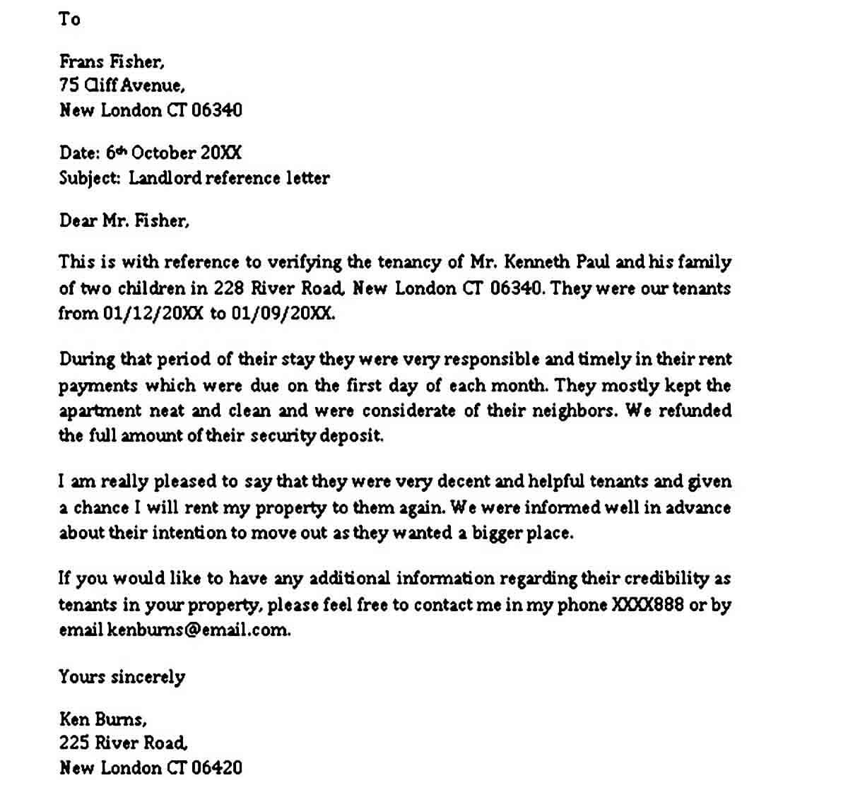Letter Of Reference For Tenancy from moussyusa.com
