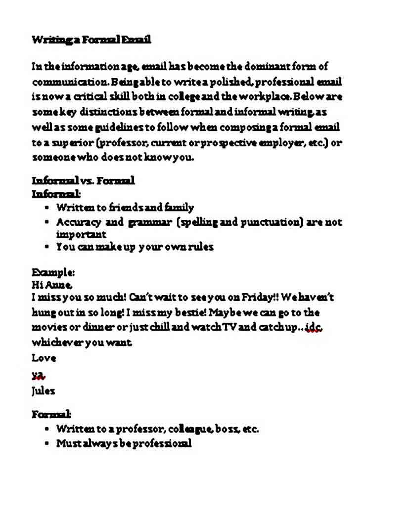 Mail Letter Format Example
