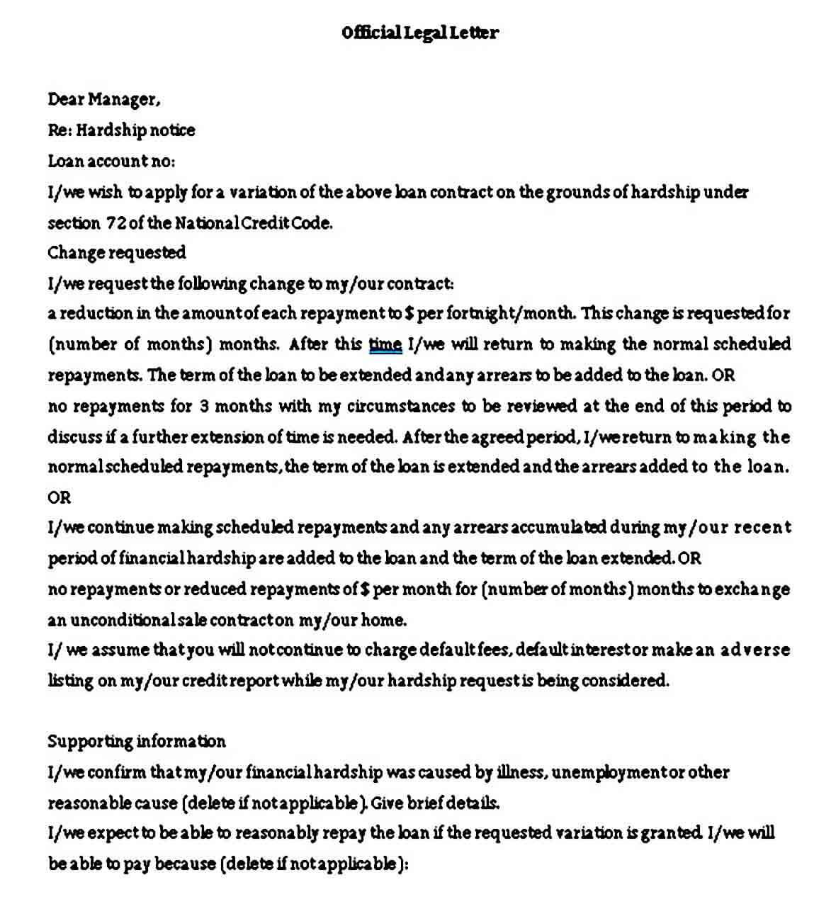 Official Legal Letter Format
