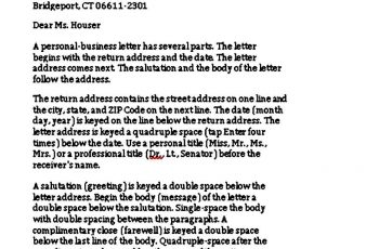 Print Personal Business Letter