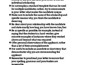 Reference Letter Format for Scholarship