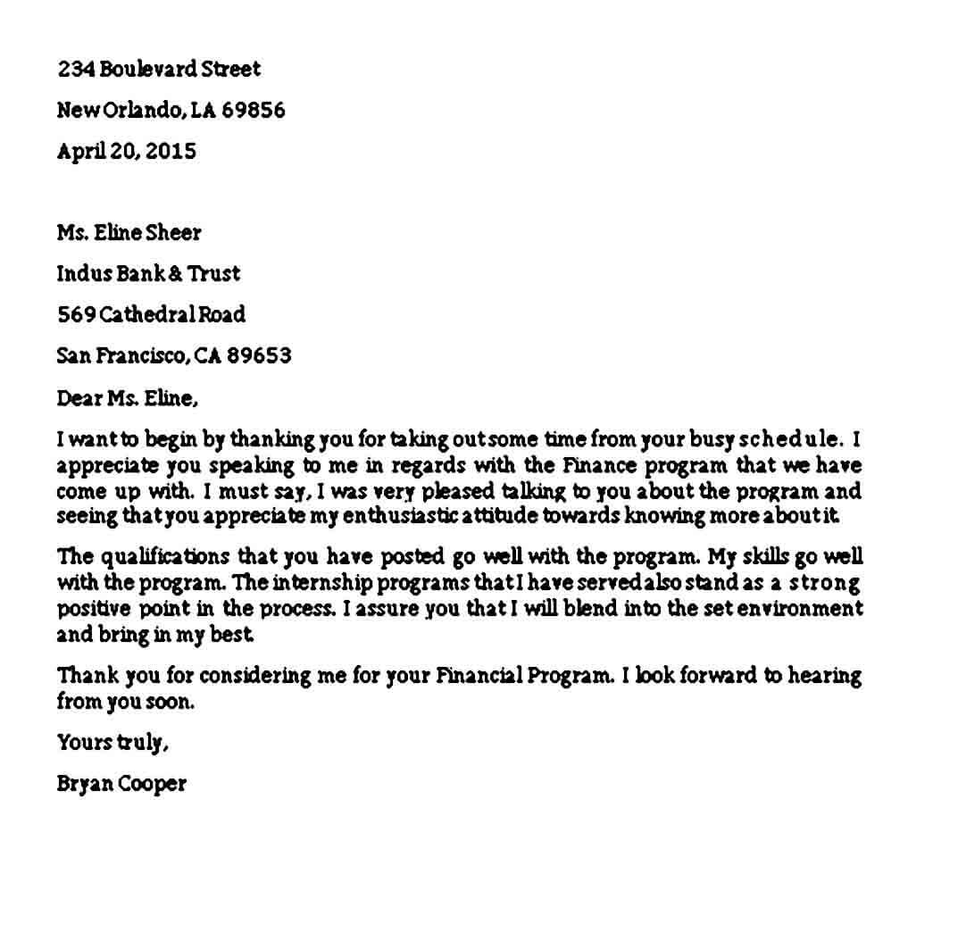 Sample Closing Business Thanks Letter
