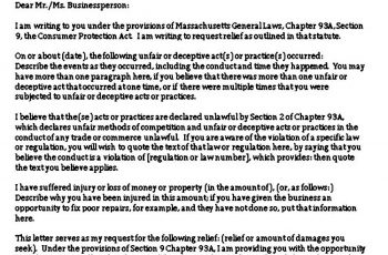 Sample Legal Demand Letter