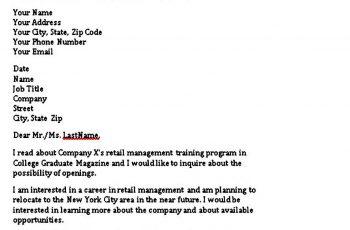 Sample Prospective Letter Of Interest