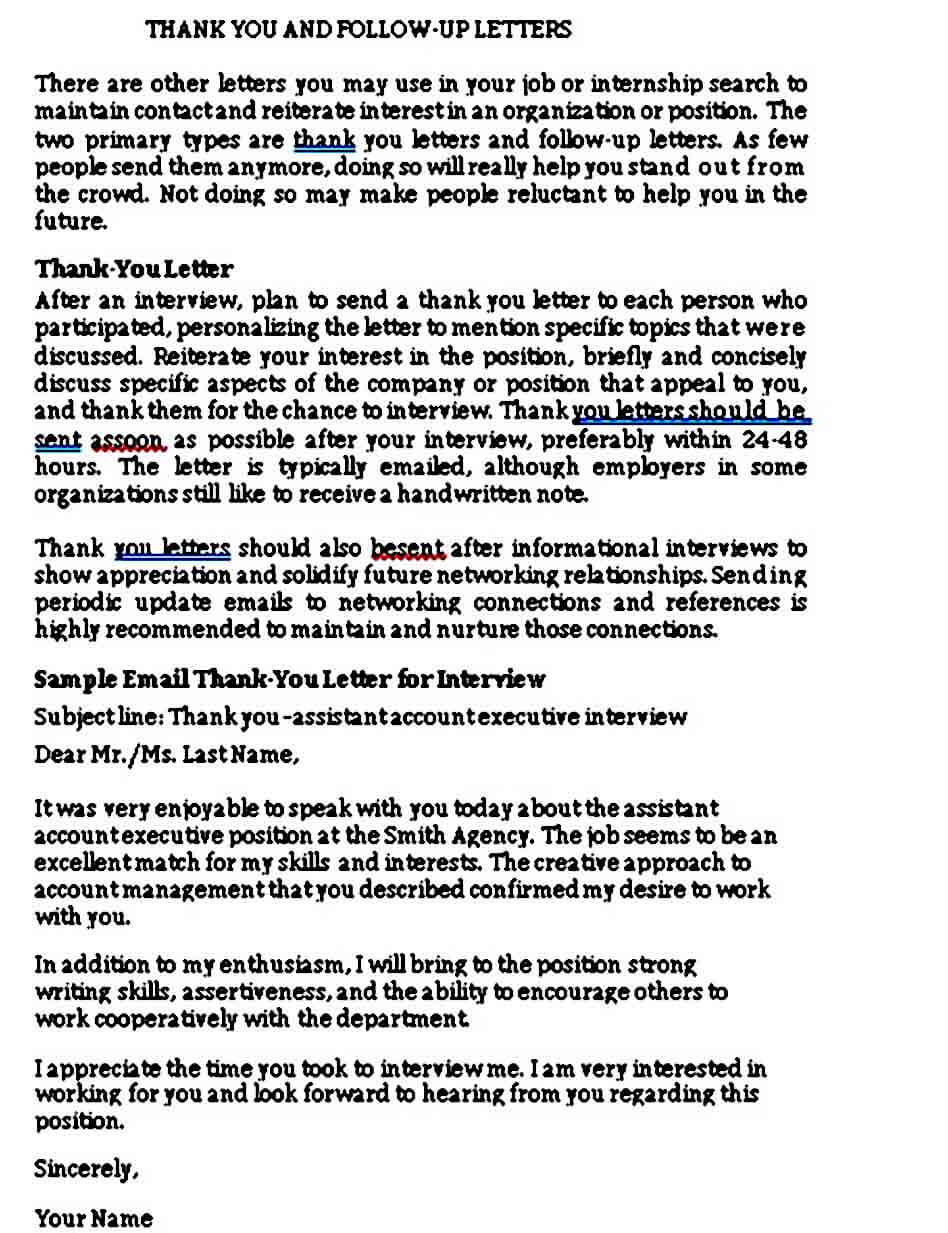 Sample Thank You Letter after Phone Interview