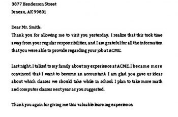 Simple Job Offer Thank You Letter