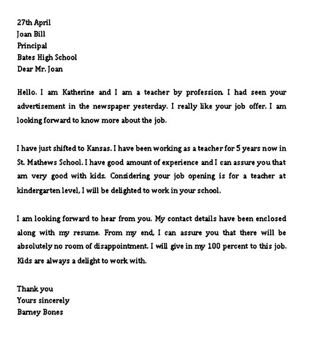 Simple Professional letter Format