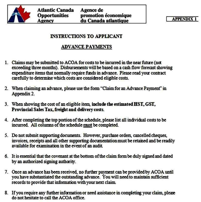 Advance Payment Requisition Form