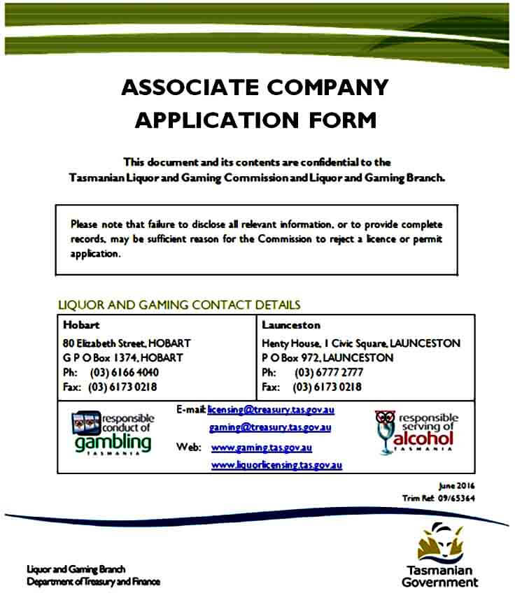 Associate Company Application Form
