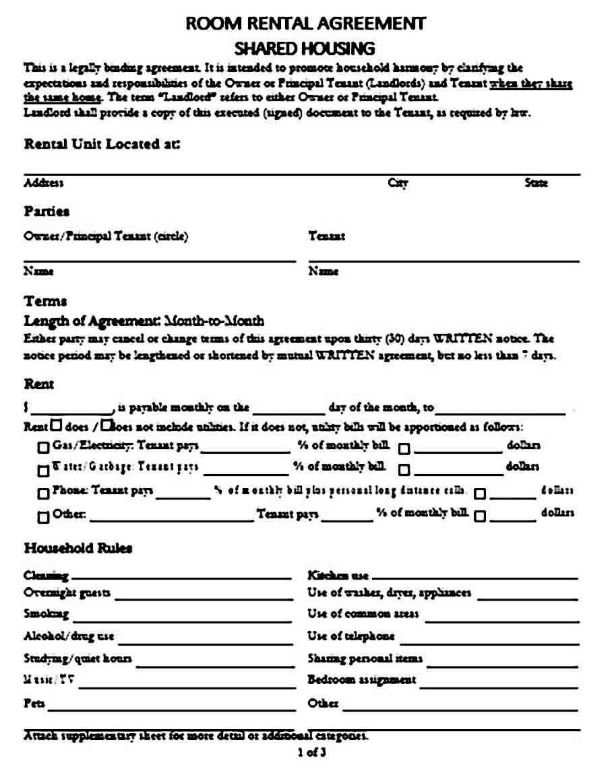 Basic House Rental Agreement