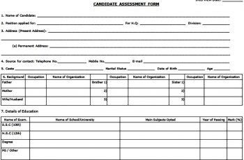 Candidate Interview Assessment Form