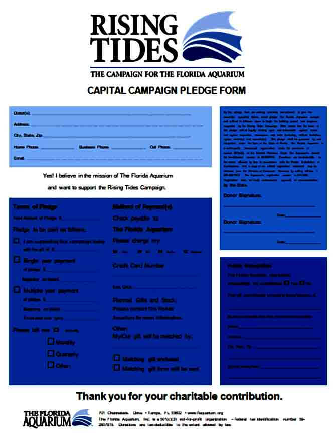 Capital Campaign Pledge Form