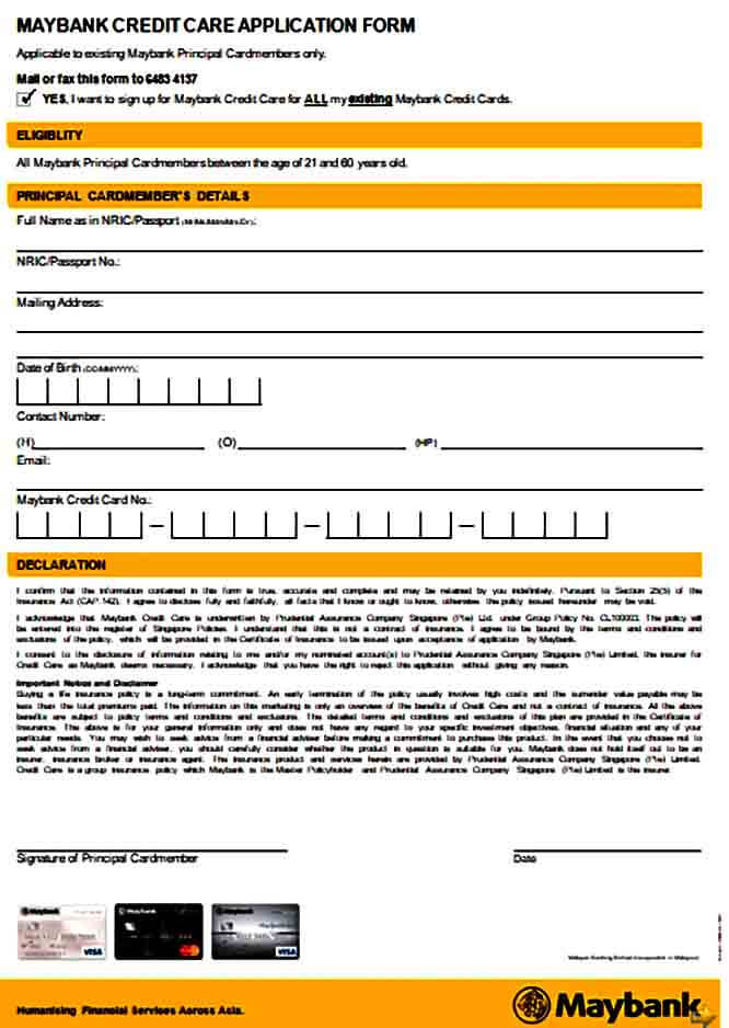 Care Credit Application Form