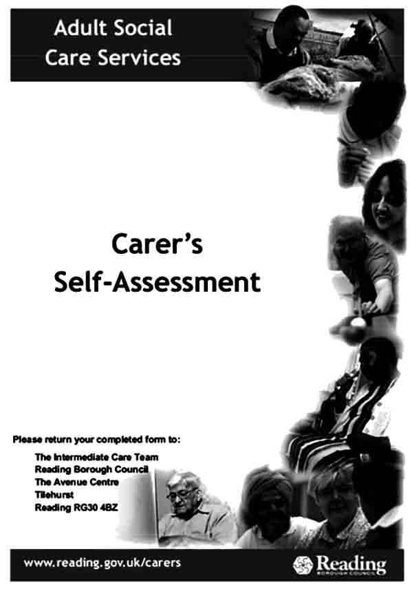 Carers Self Assessment Form