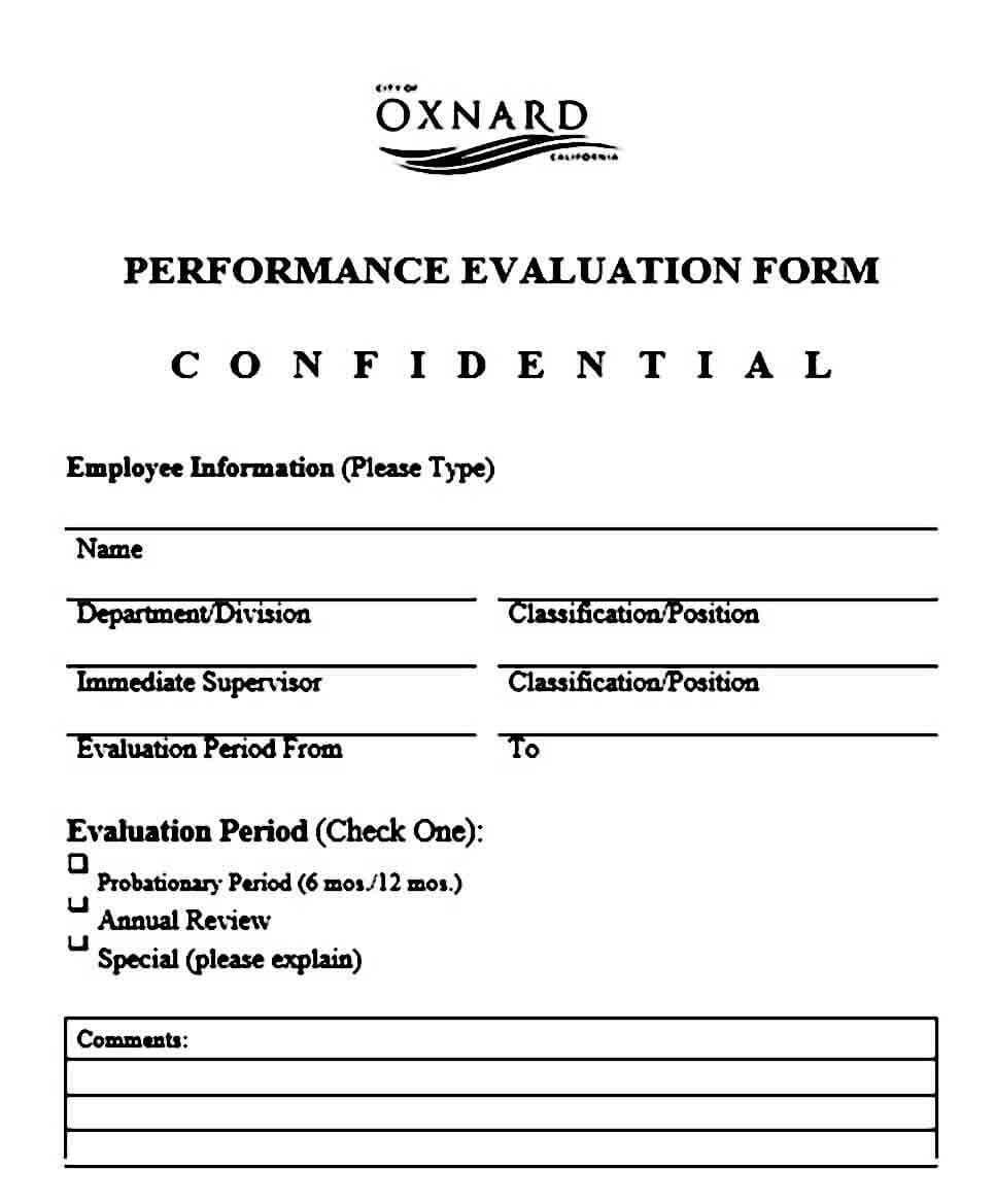 Customer Service Employee Evaluation Form
