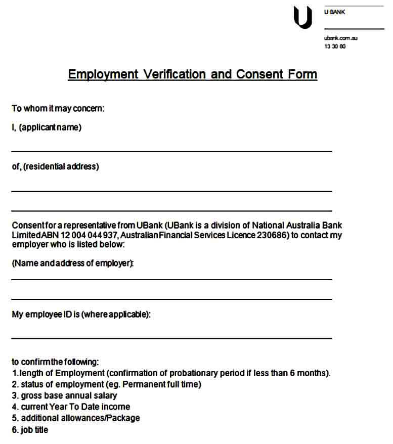 Employment Verification and Consent Form