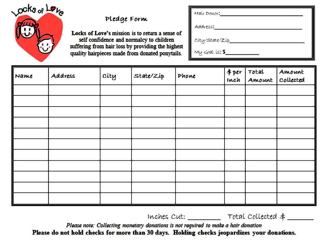 Financial Pledge Form