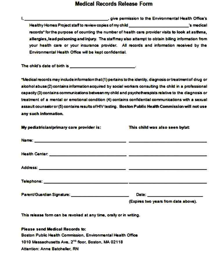 Medical Records Request Form doc