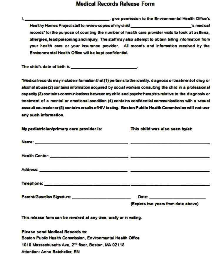 Medical Records Request Form doc