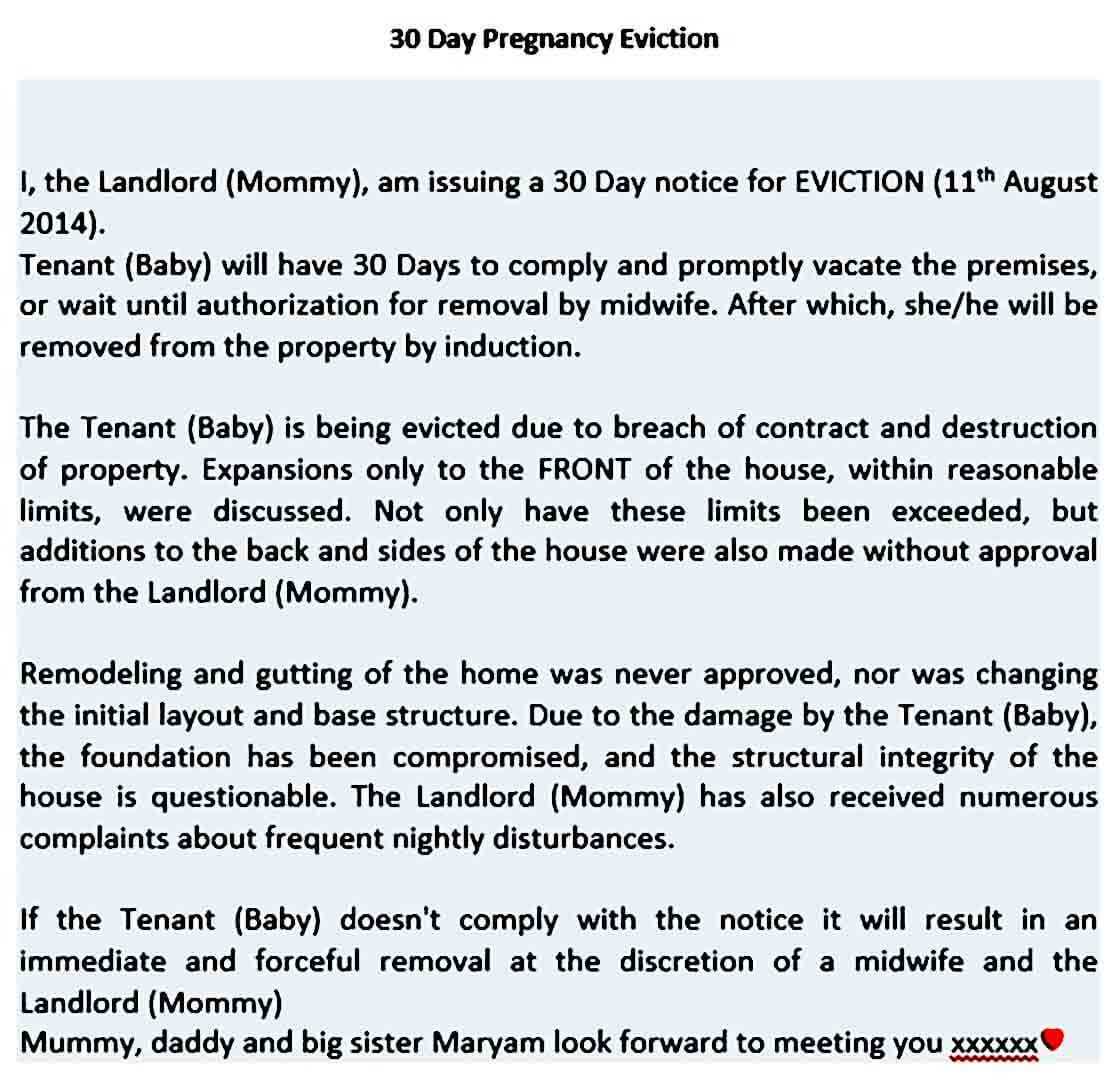 Pregnancy Baby Eviction