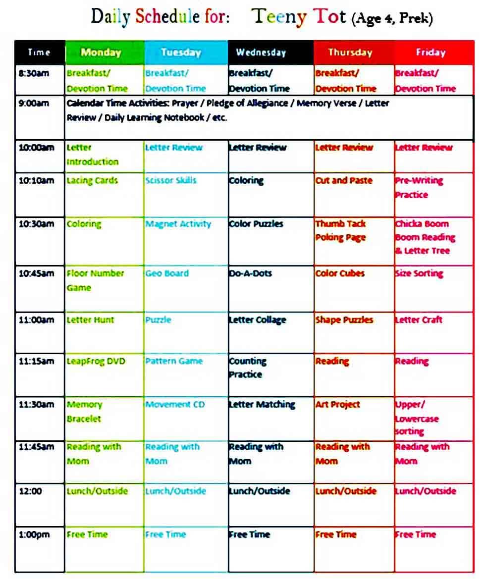 Preschool Activities Lesson Plan templates