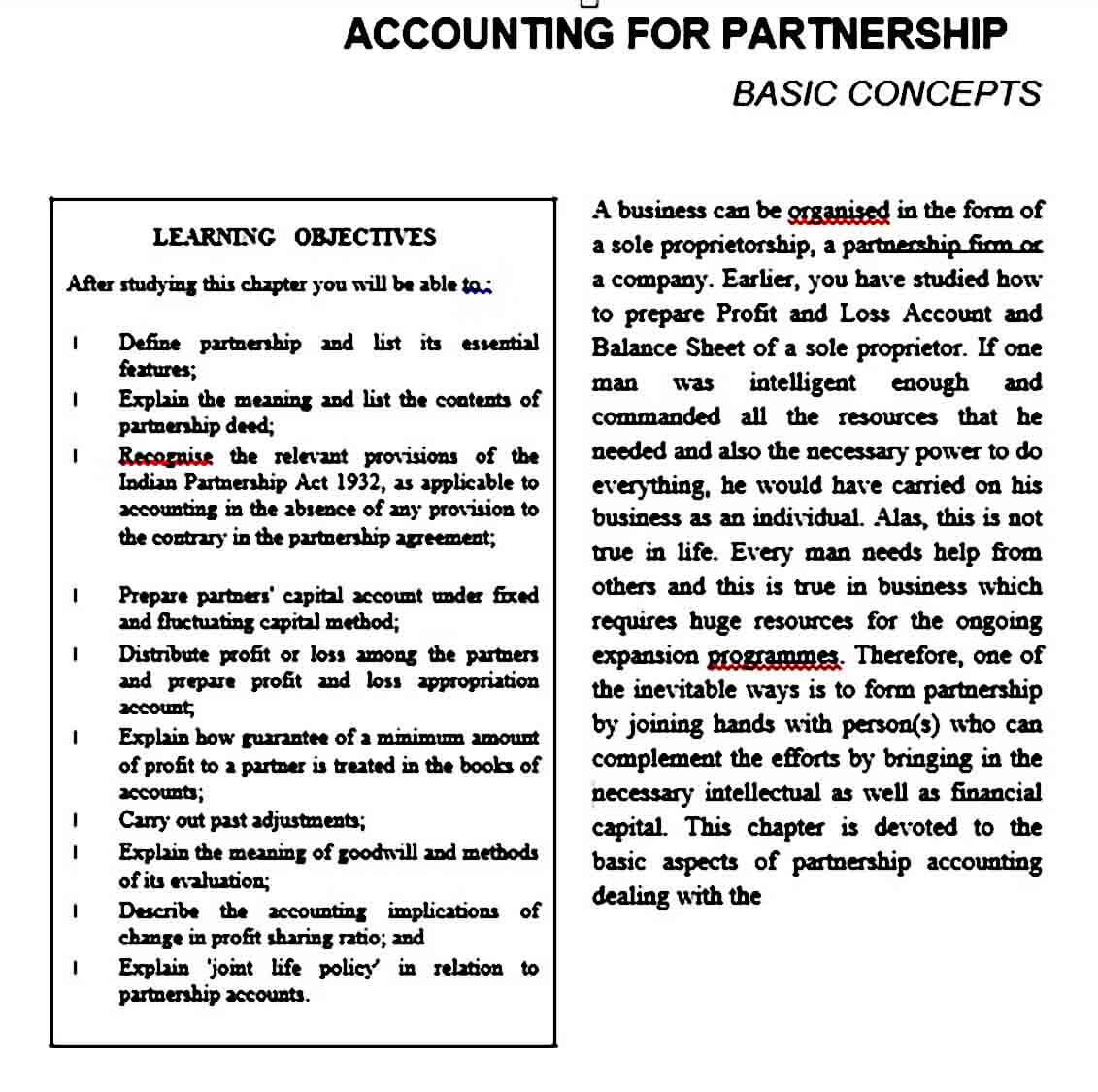 Profit and Loss Appropriation Account templates