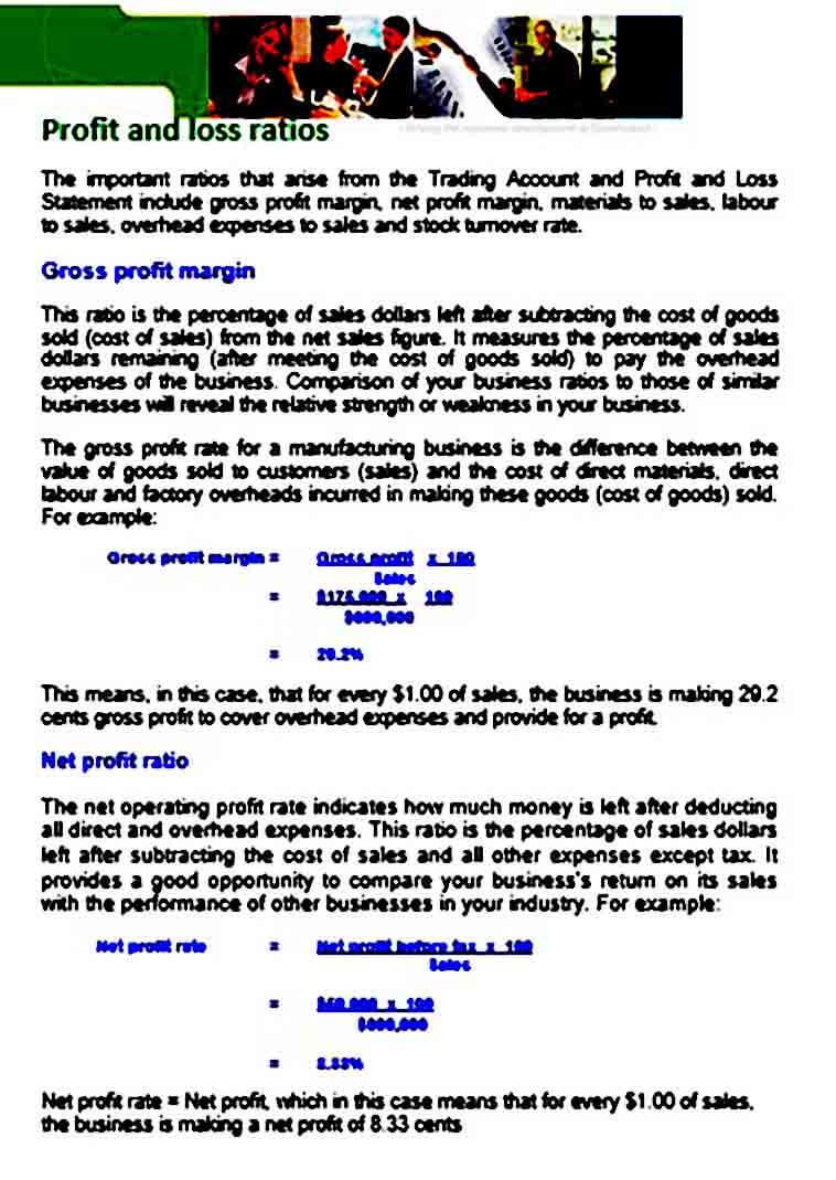 Profit and Loss Ratio templates
