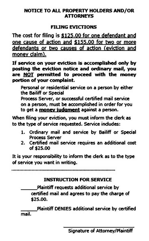 Property Eviction Notice