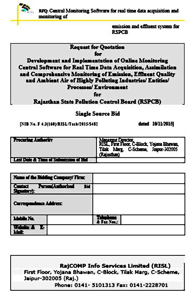 Request for Quotation for Software Development