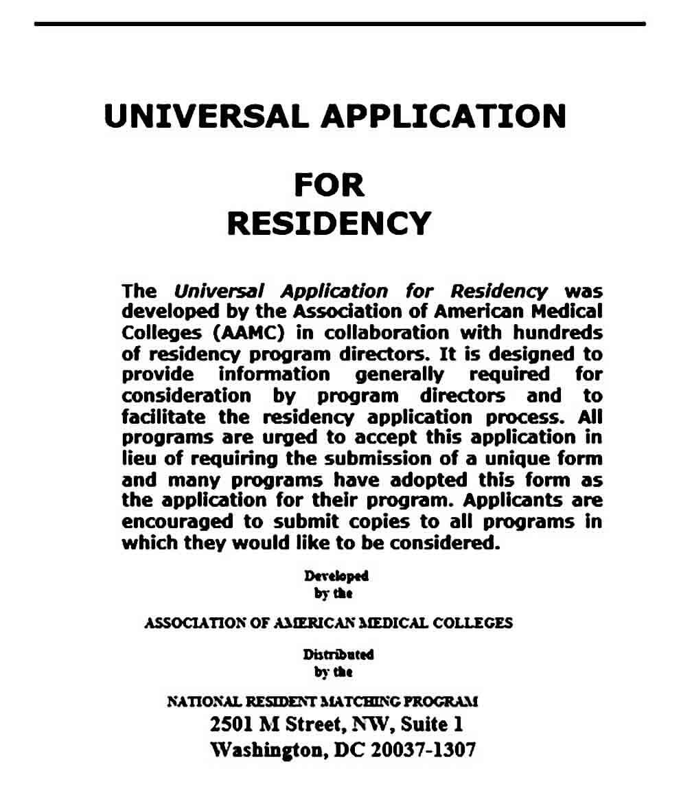 Residency application personal statement