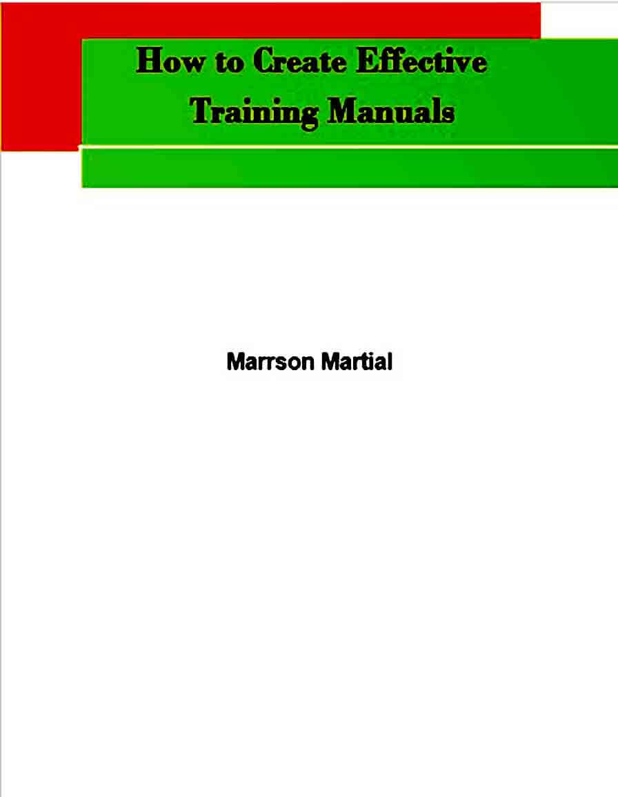 Sample Training Manual templates Example