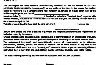 Simple Demand Promissory Note