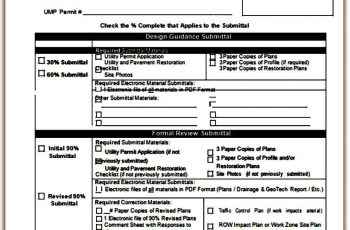 Submittal Material Transmittal Form