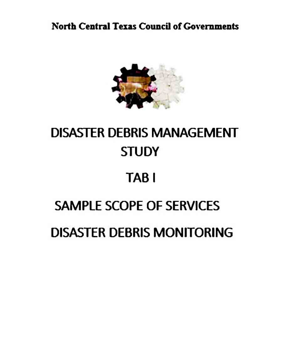 TAB I Debris Monitoring Scope of Services