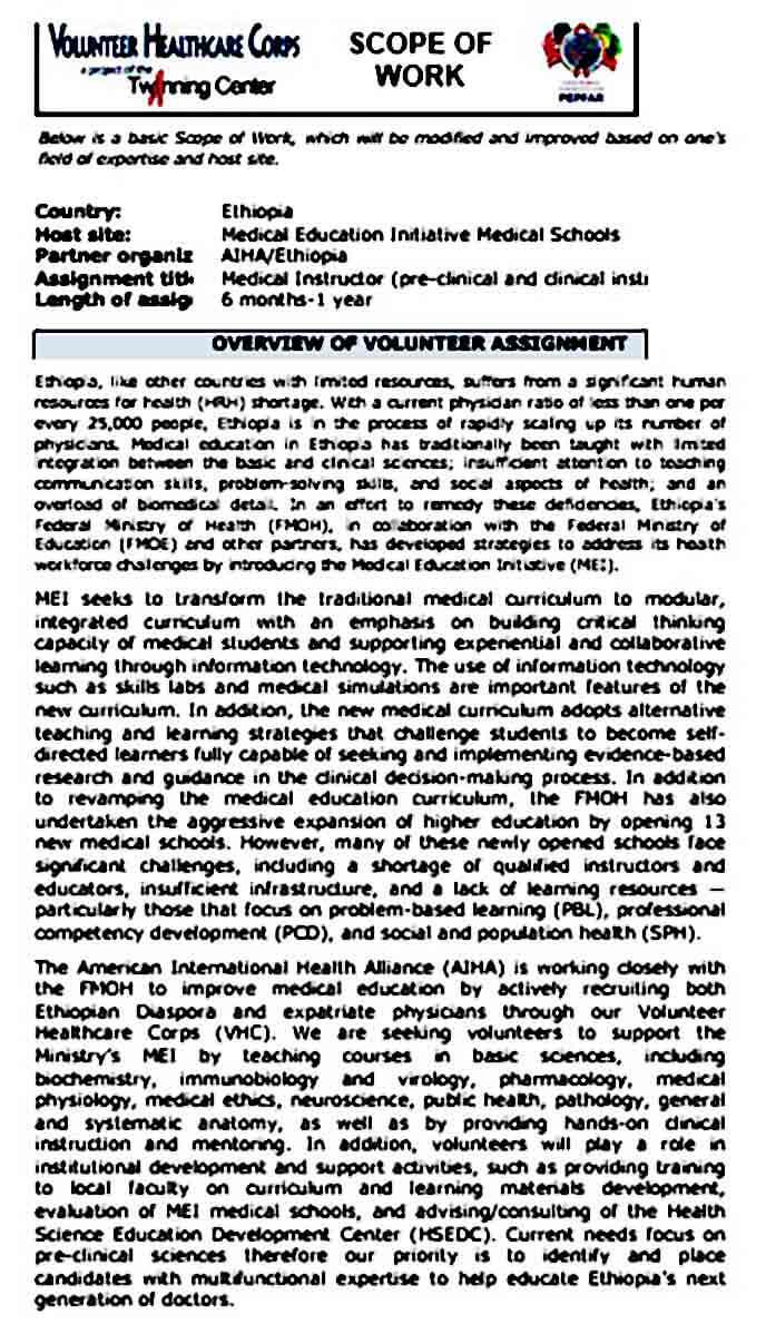 VHC SOW MEI Clinical Preclinic FINAL