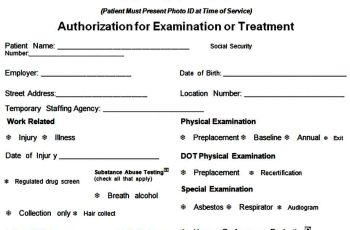 examination medical authorization form