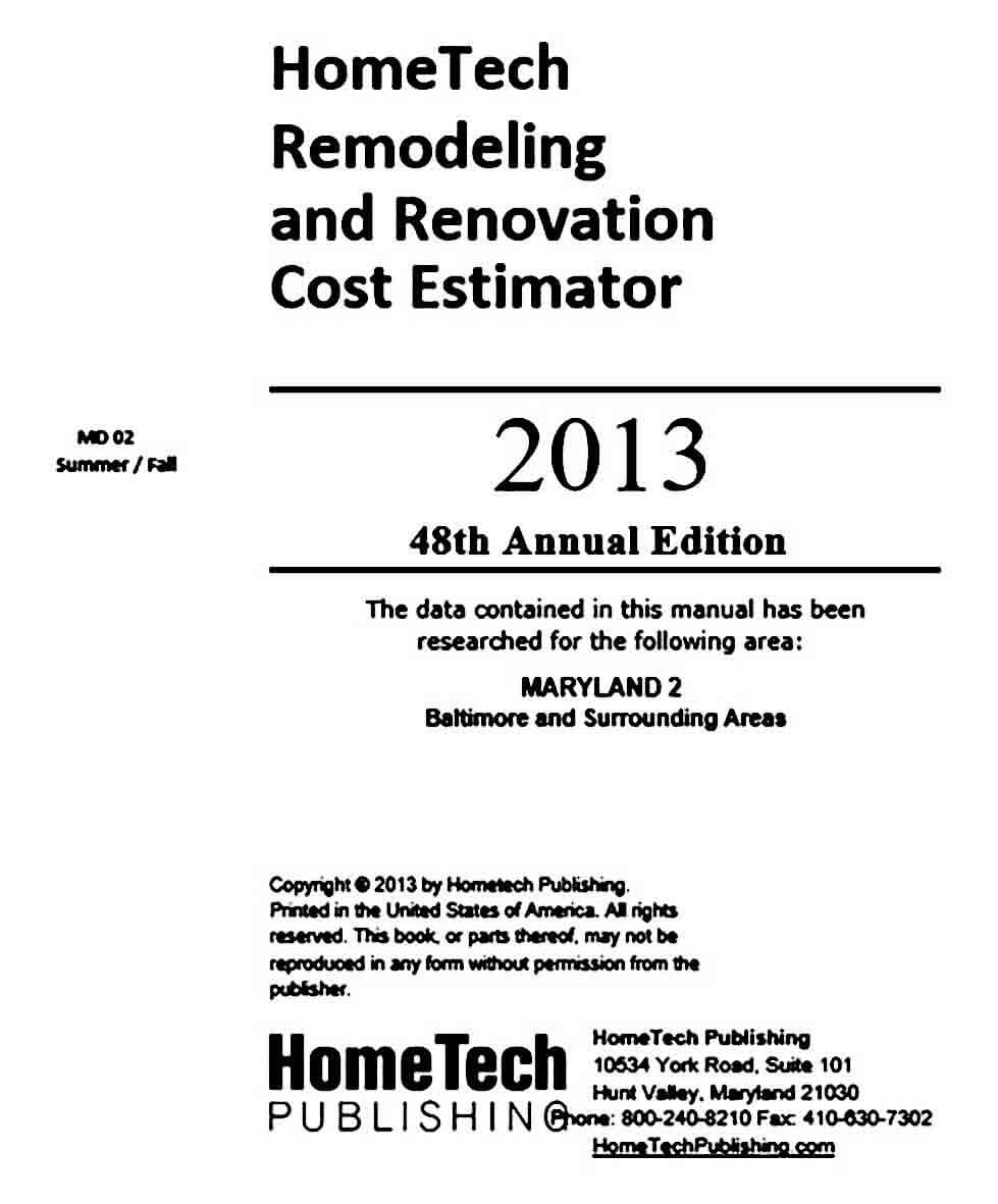 home remodeling estimate templates