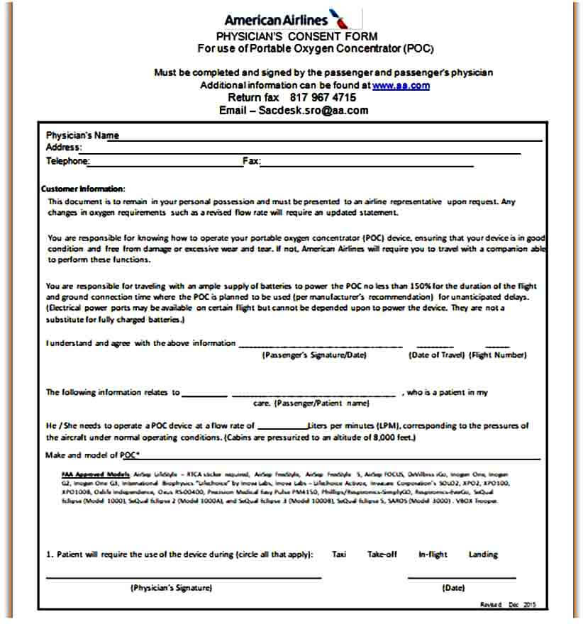 medical consent form printable