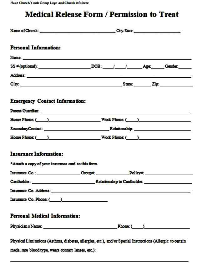 medical release form example