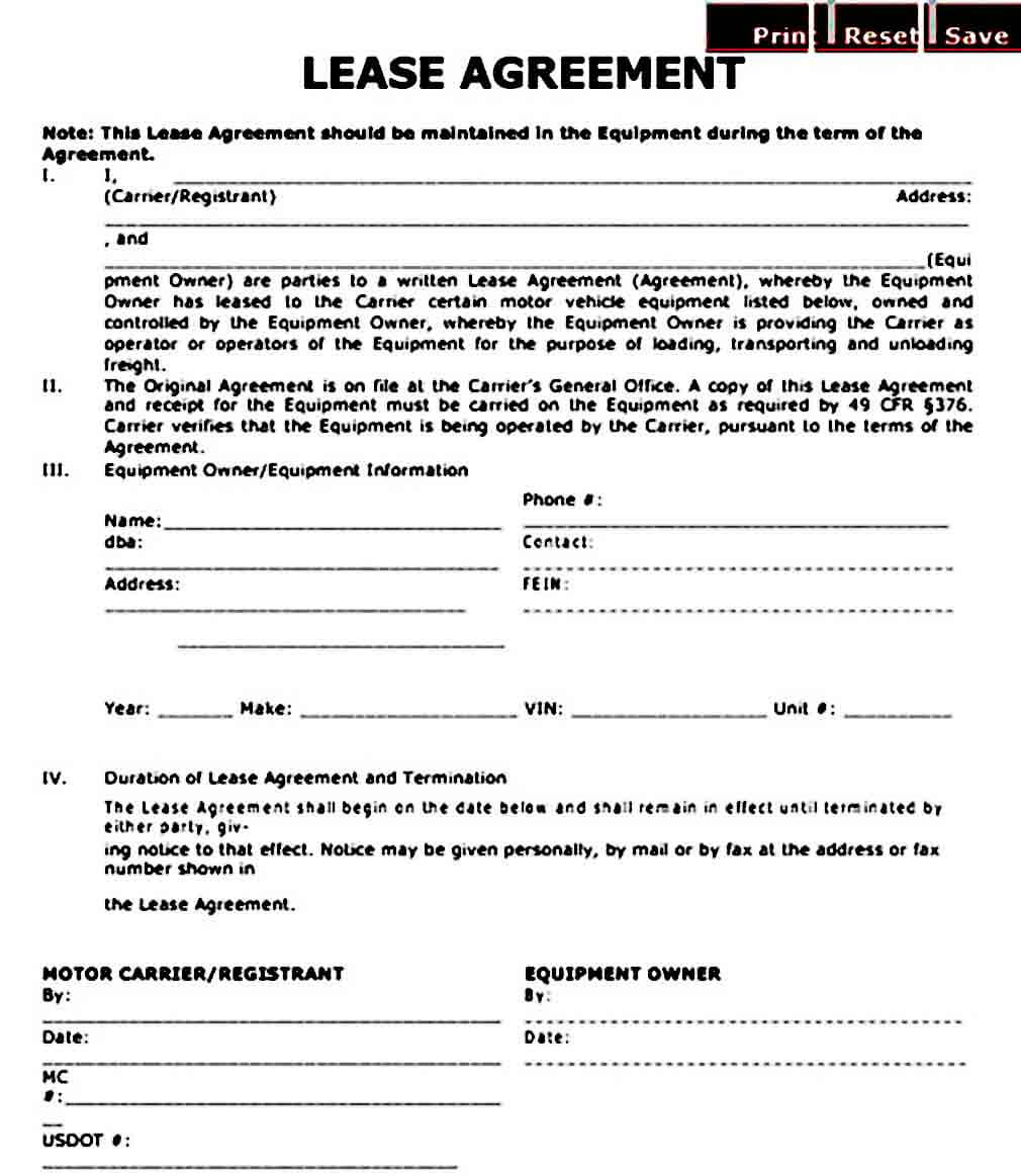 owner operator lease agreement