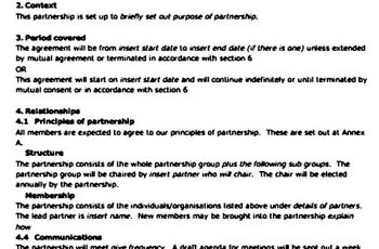 partnership agreement templates