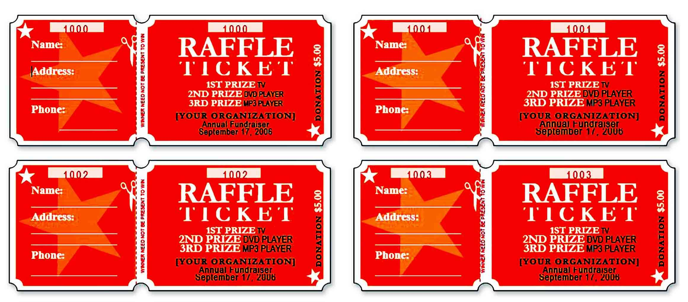 raffle ticket templatess
