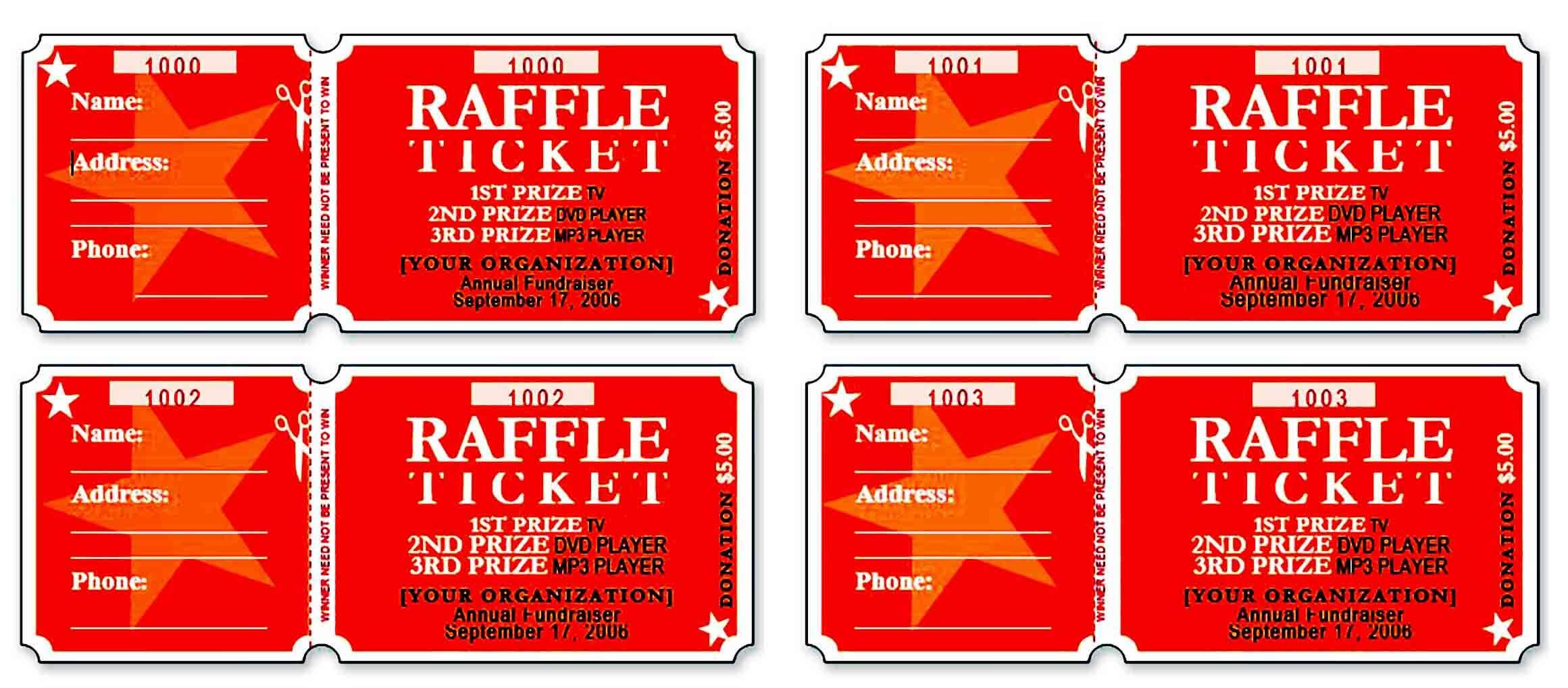raffle ticket templatess