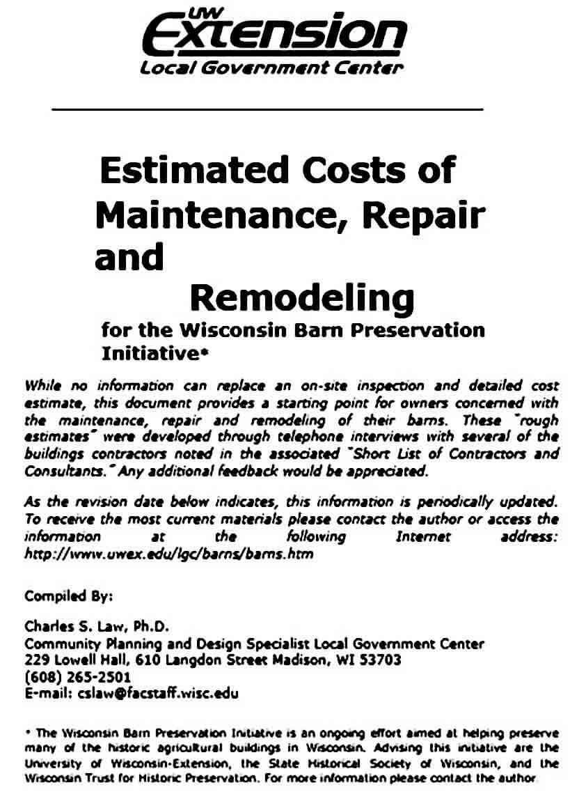 repair remodeling cost estimate templates